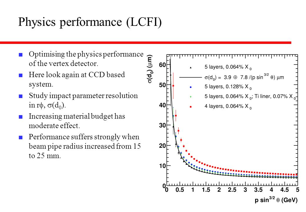 Physics performance (LCFI)
