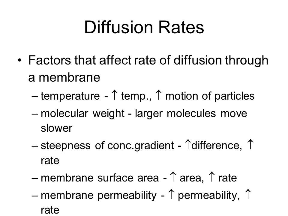Is the rate of diffusion affected by gravity?
