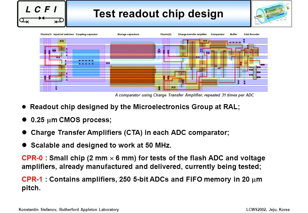 Test readout chip design