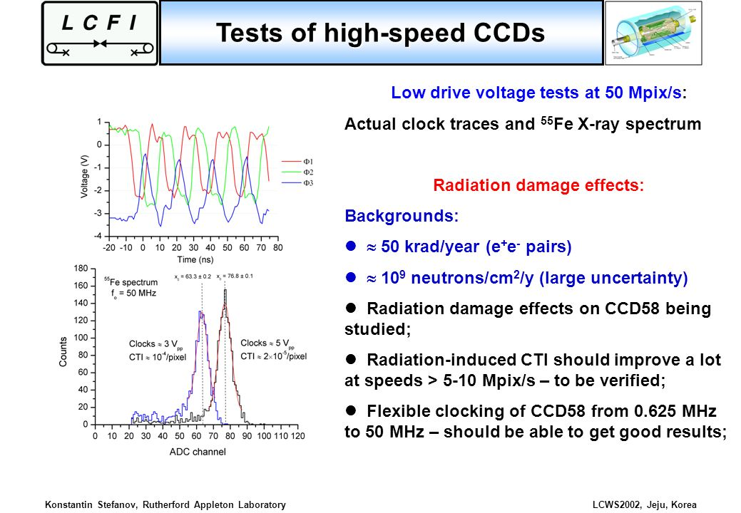 Tests of high-speed CCDs