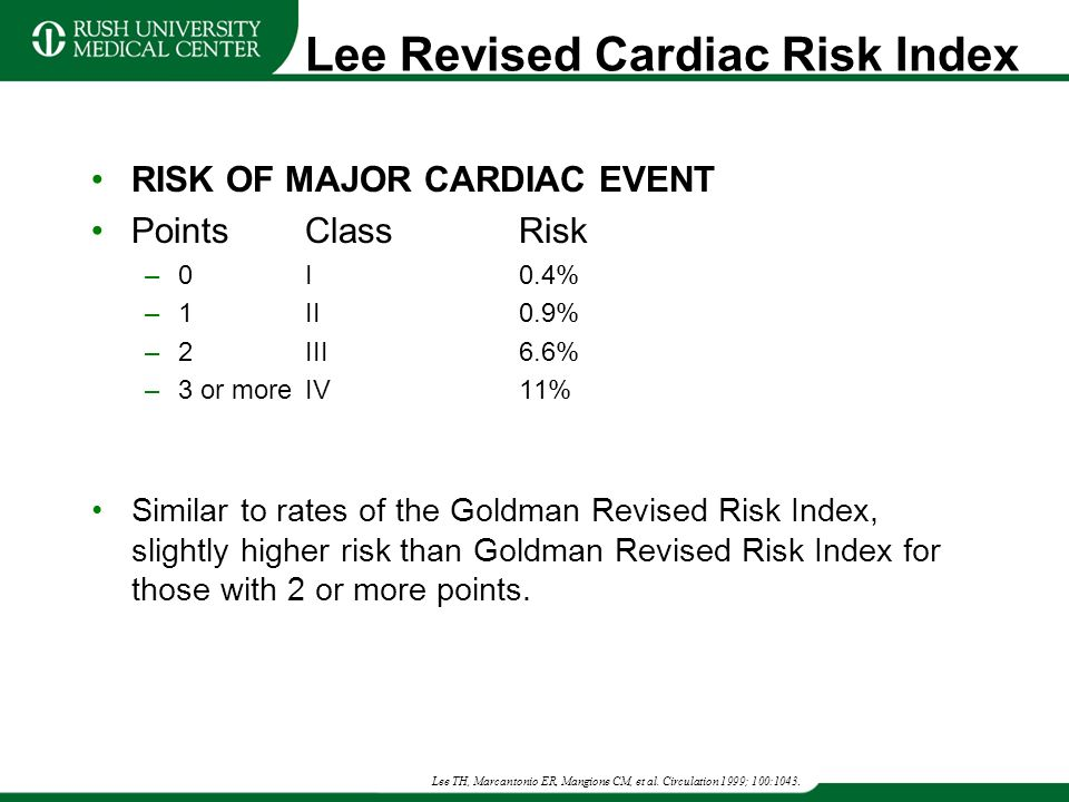 The Lee index: Risk of perioperative cardiac events [Classics Series]