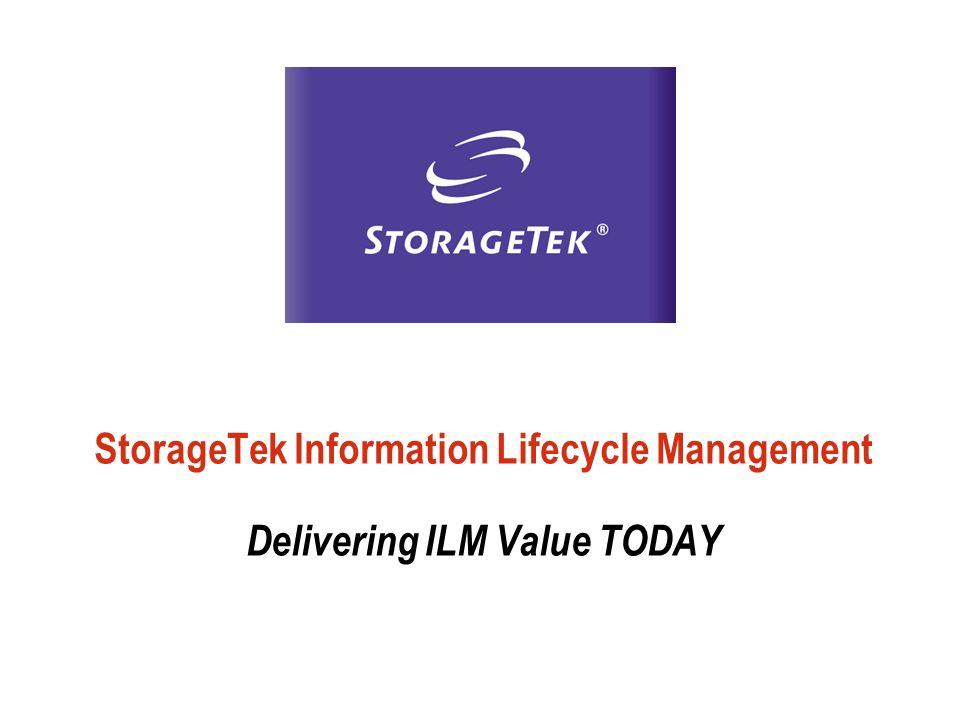 StorageTek Information Lifecycle Management Delivering ILM Value TODAY