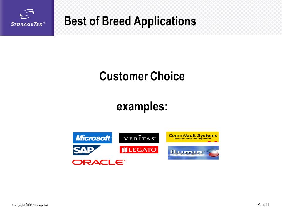 Best of Breed Applications