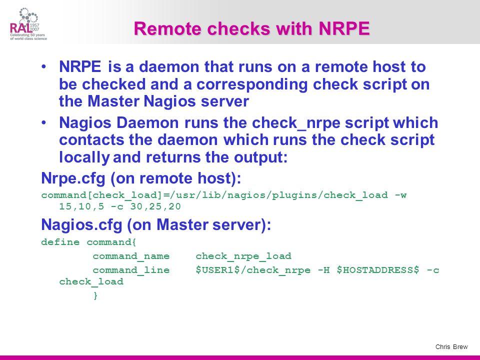 Remote checks with NRPE