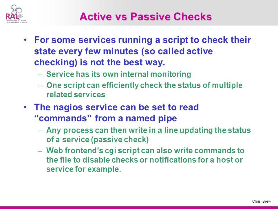 Active vs Passive Checks