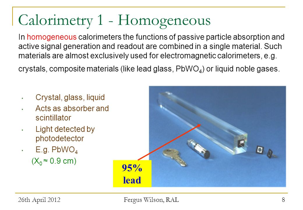 Calorimetry 1 - Homogeneous