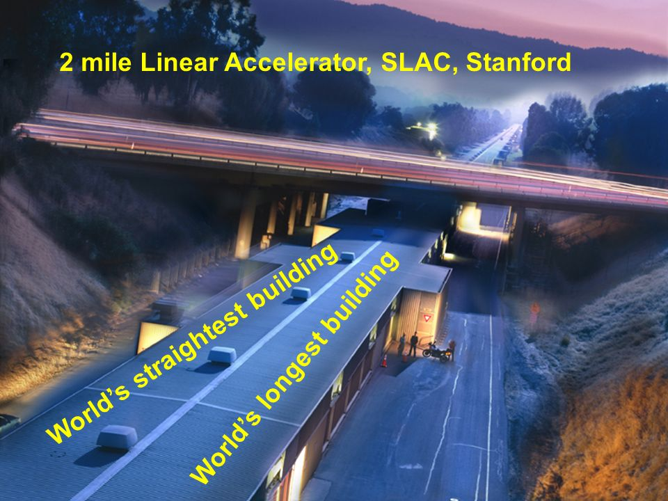 2 mile Linear Accelerator, SLAC, Stanford