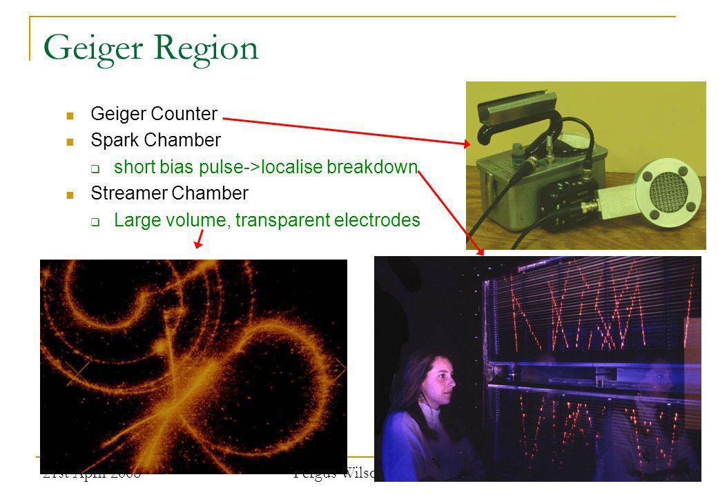 Geiger Region Geiger Counter Spark Chamber