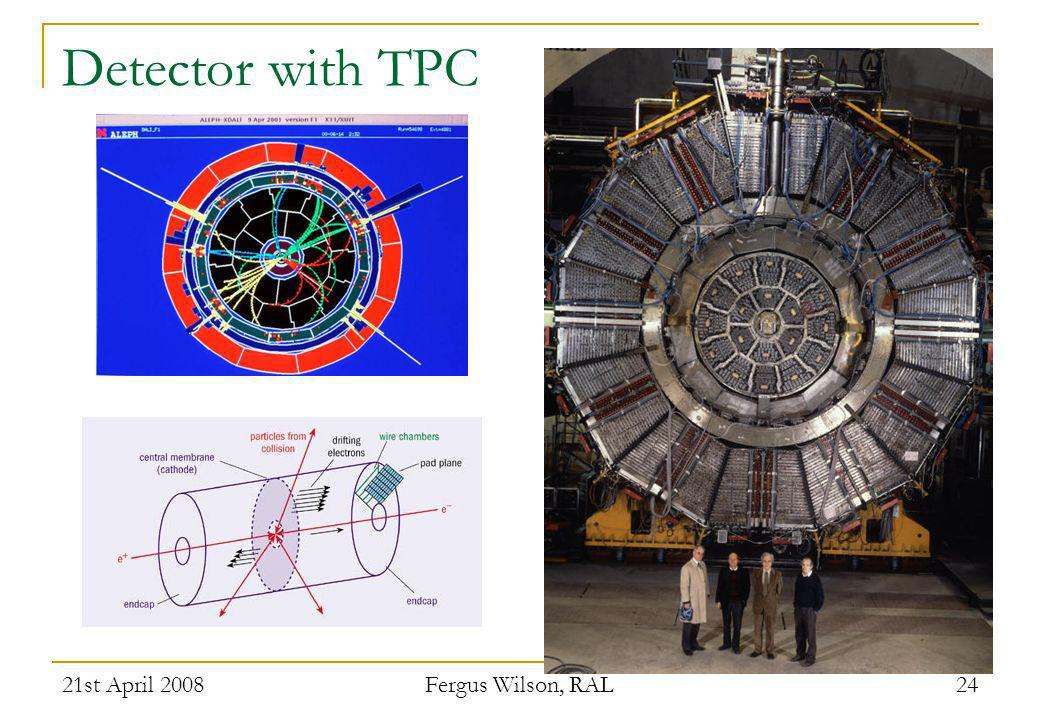 Detector with TPC 21st April 2008 Fergus Wilson, RAL