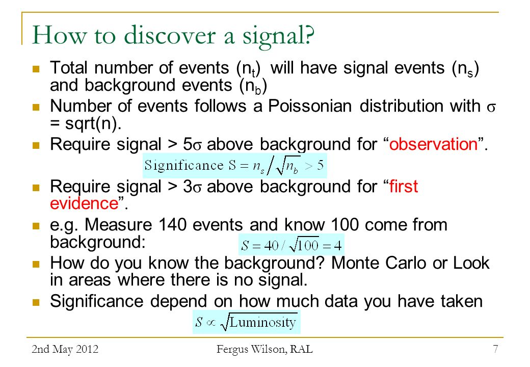 How to discover a signal