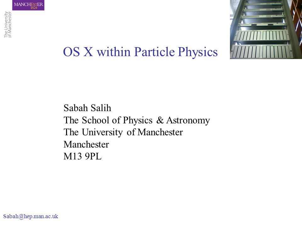 OS X within Particle Physics