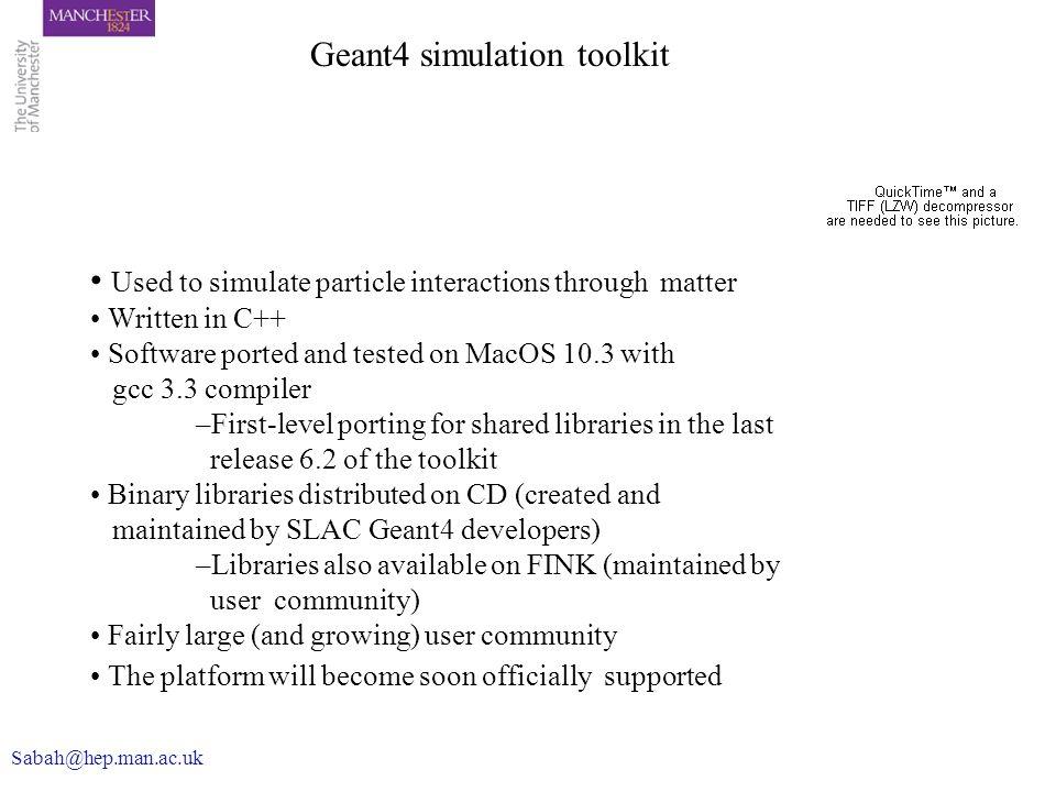 Geant4 simulation toolkit