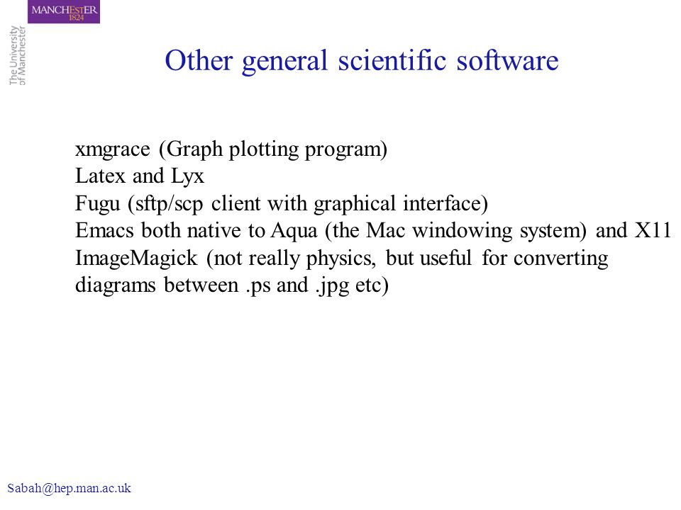 Other general scientific software