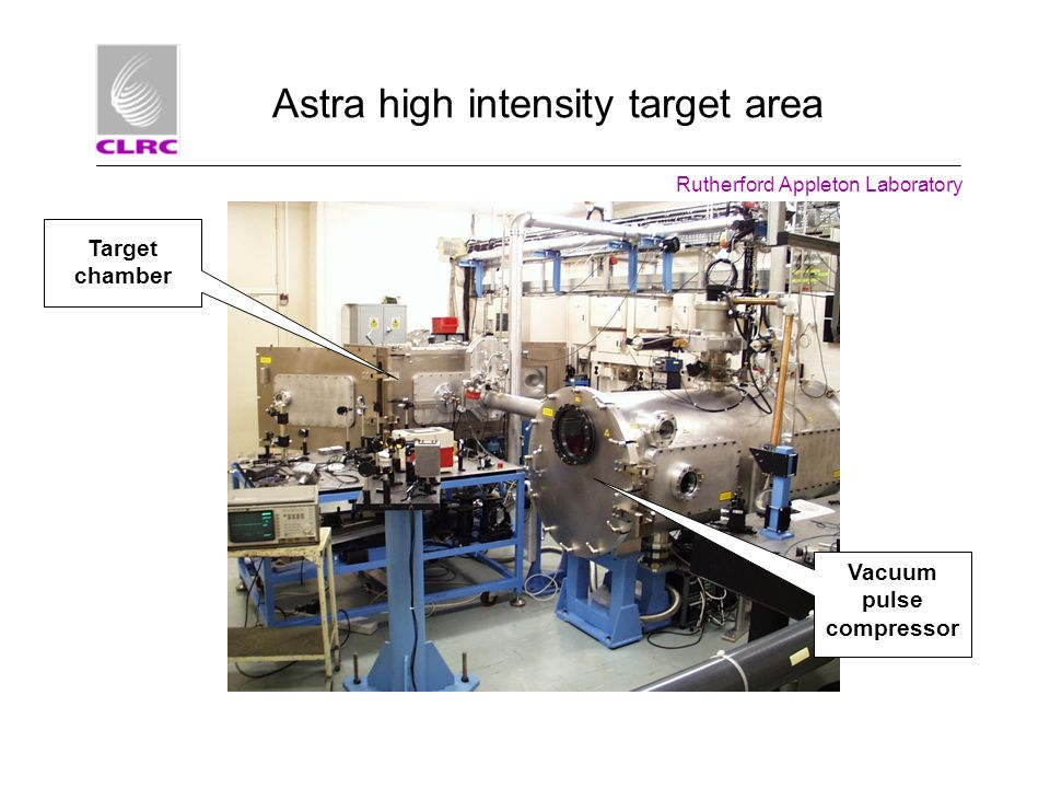 Astra high intensity target area
