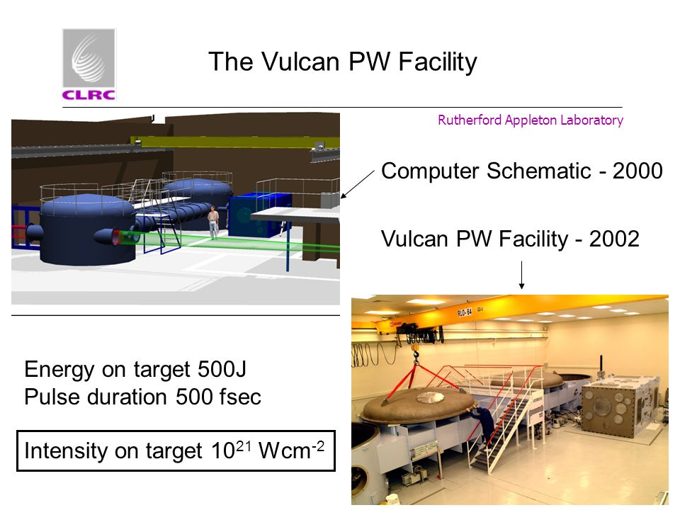 The Vulcan PW Facility Computer Schematic - 2000