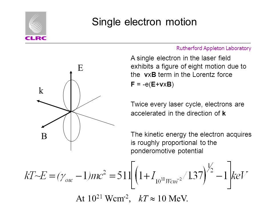 Single electron motion