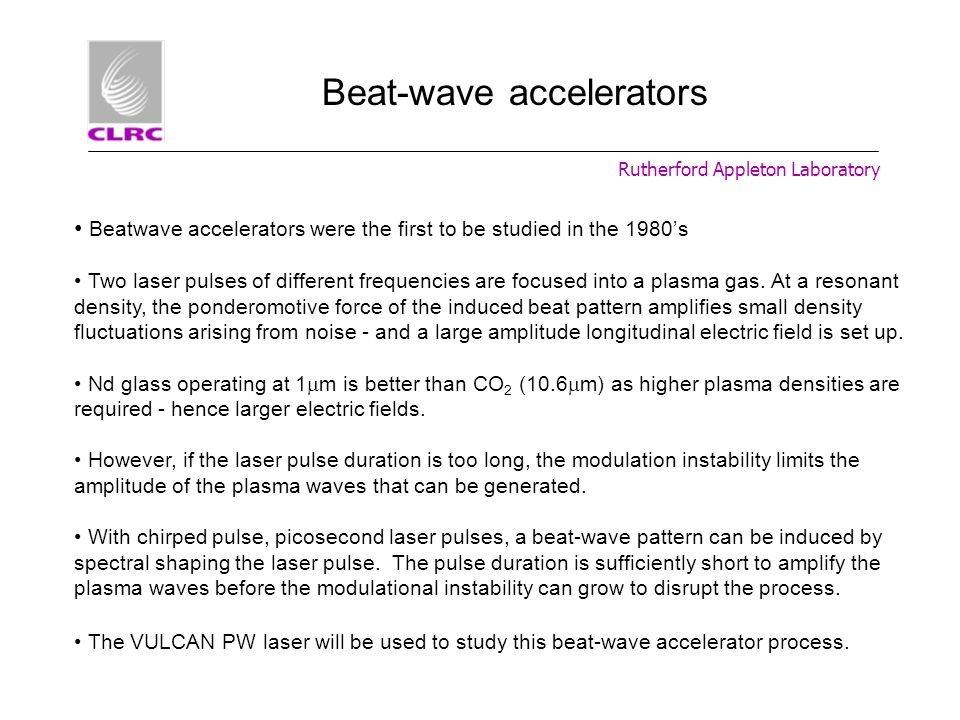 Beat-wave accelerators