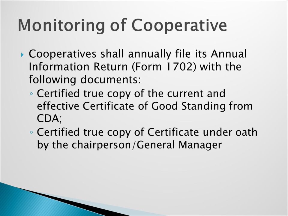 Taxation for cooperatives presented by ms yesa p yap ppt 35 monitoring of cooperative yelopaper Choice Image