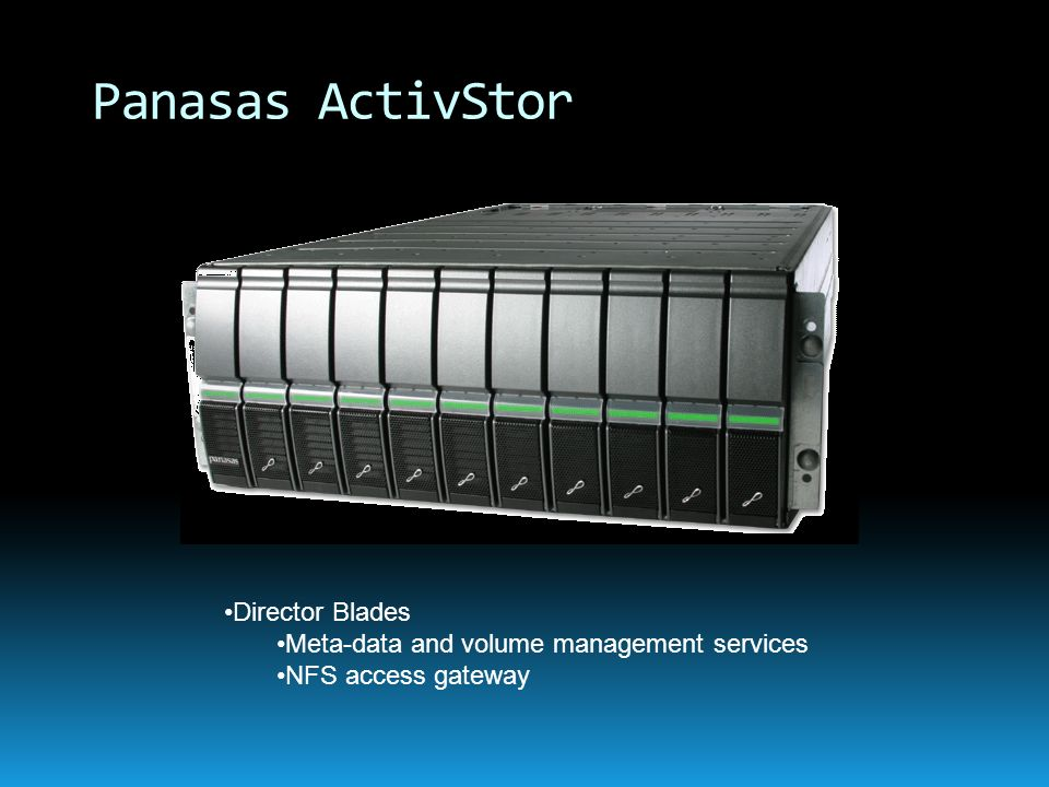 Panasas ActivStor Director Blades