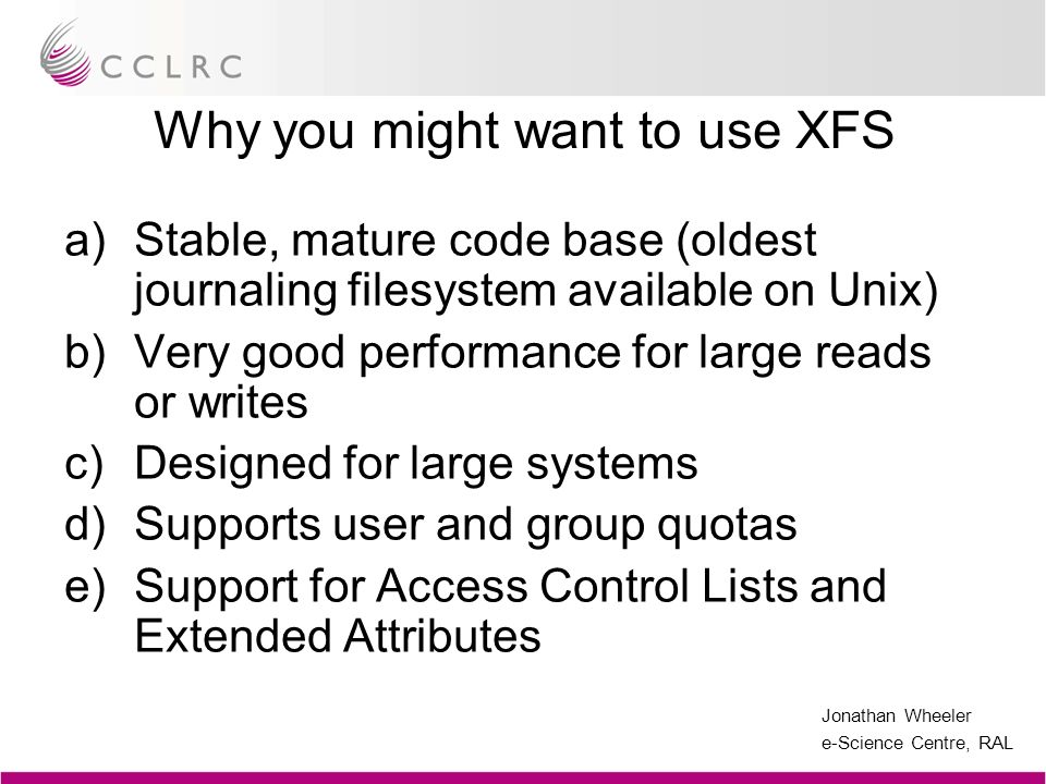 Why you might want to use XFS
