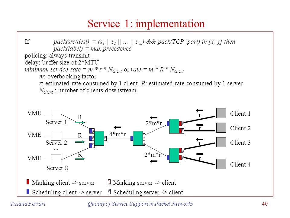 Service 1: implementation