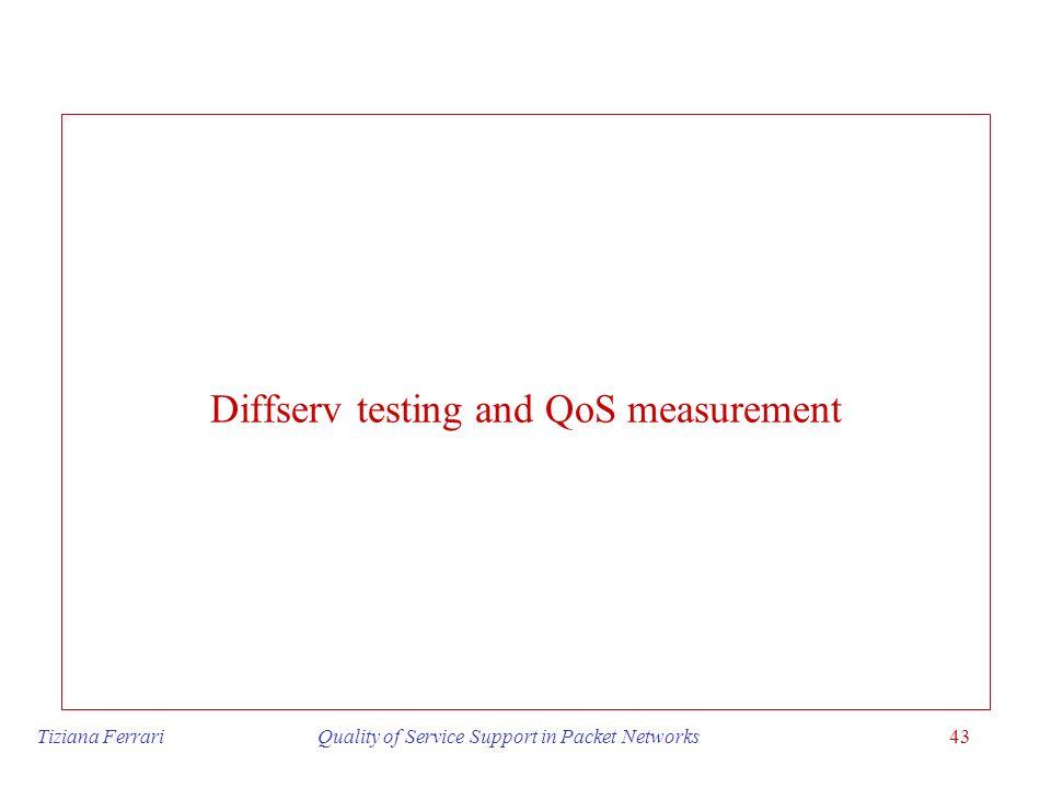 Diffserv testing and QoS measurement