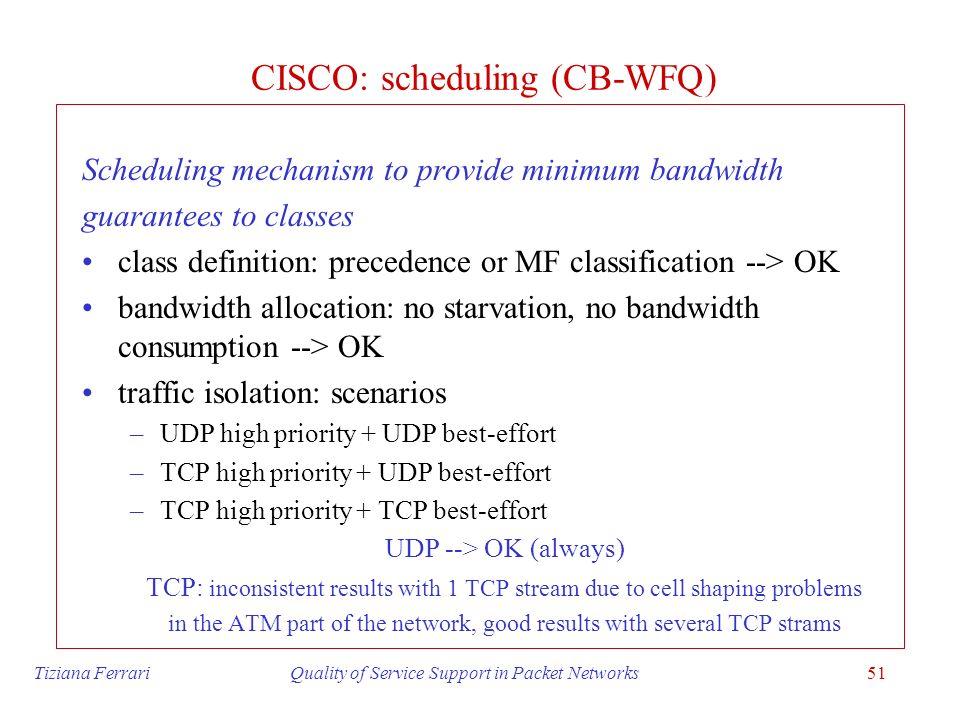 CISCO: scheduling (CB-WFQ)