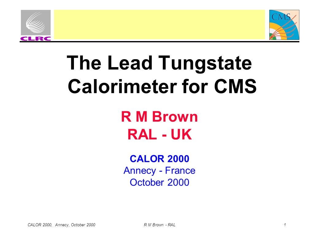 The Lead Tungstate Calorimeter for CMS