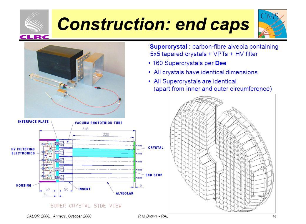 Construction: end caps