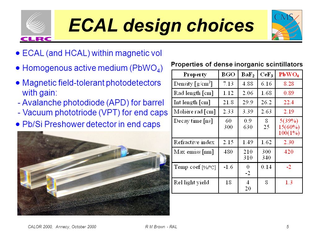 ECAL design choices  ECAL (and HCAL) within magnetic vol