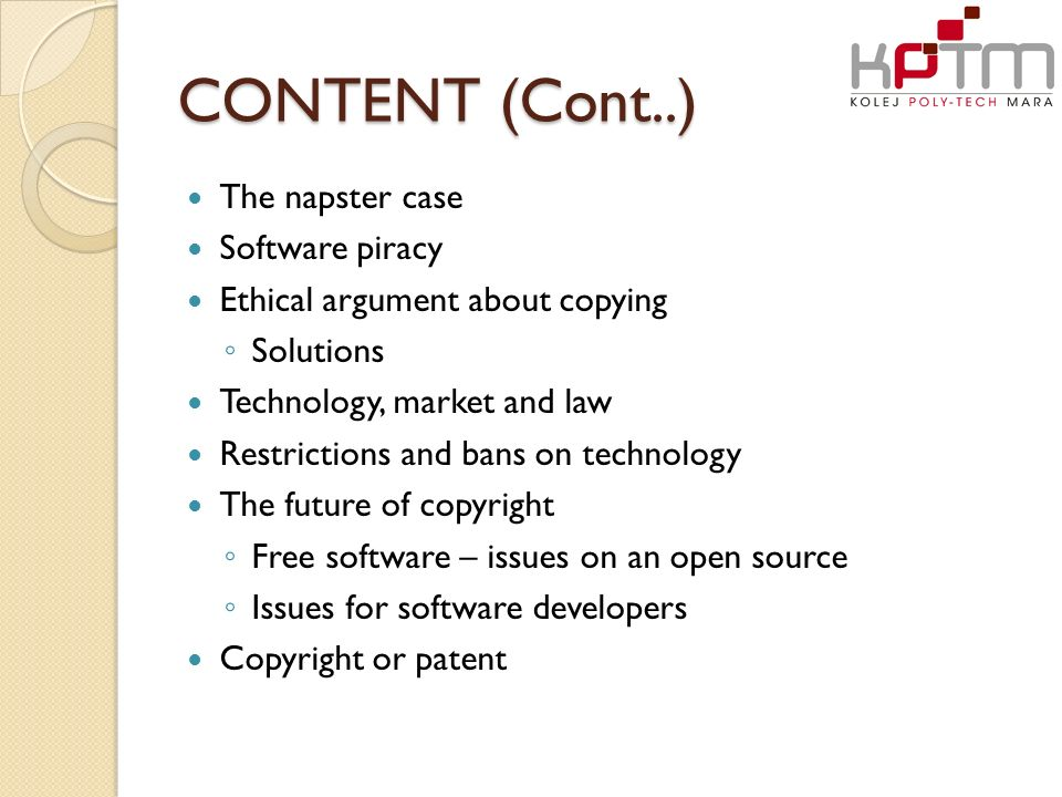 """ethical issues with the software piracy Legal and ethical issues with graphic design one of the listings for the dictionary definition of ethics is """"the rules of conduct recognized in respect."""
