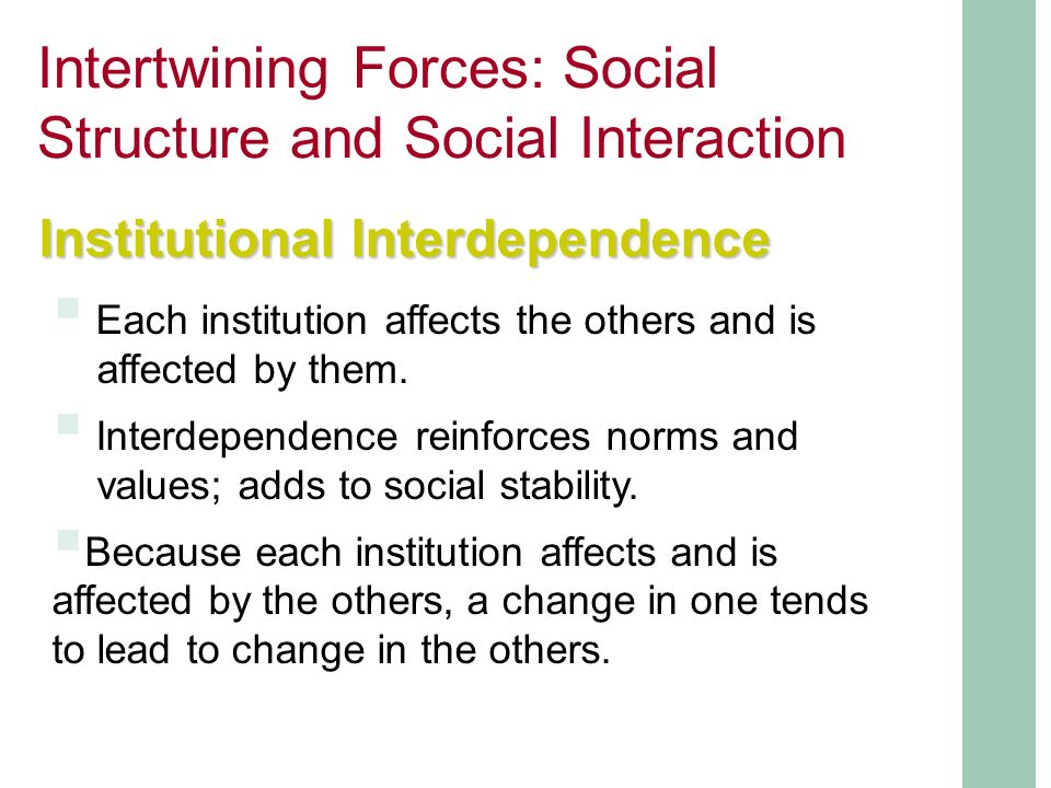 social interaction social structure Social structure and social interaction social structure social structure: relatively stable patterns of social behavior relationship of people and groups to one another.
