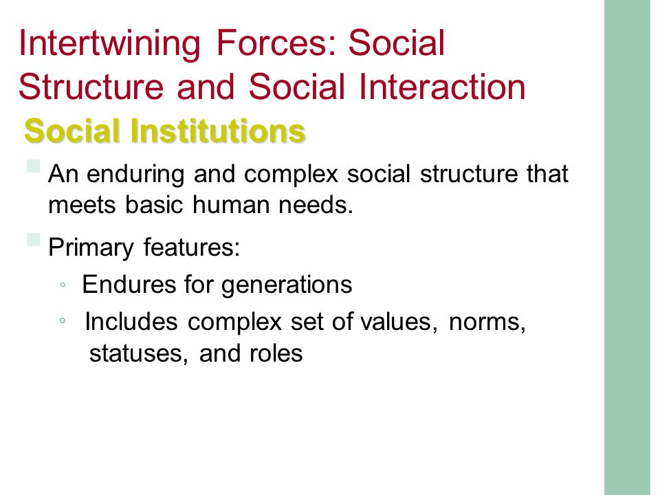 Notes to Social Structure and Interaction