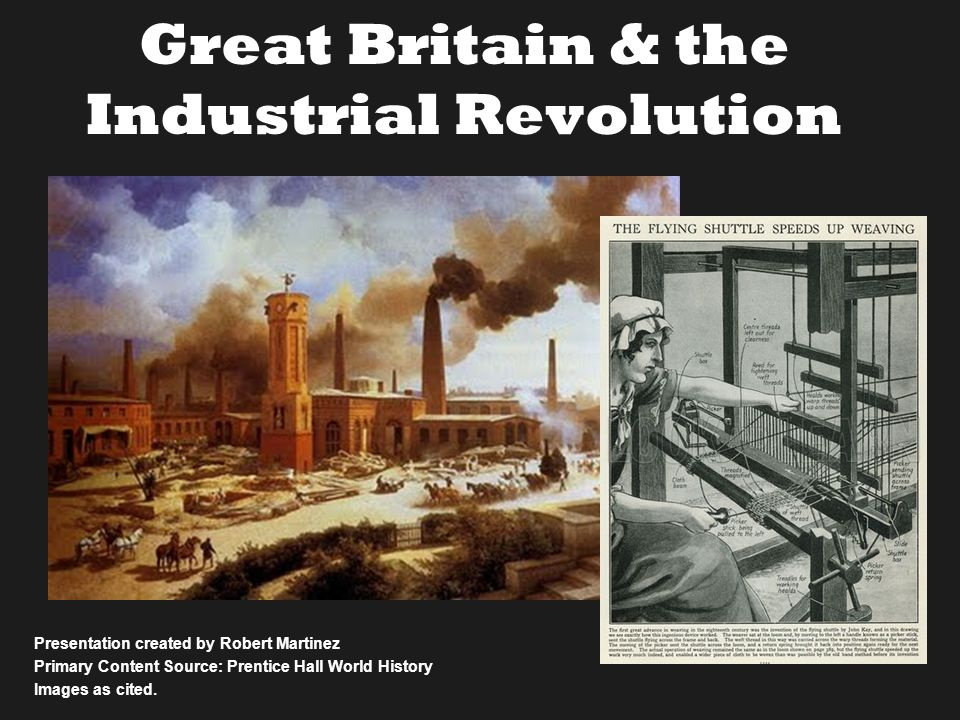 the advance of the industrial revolution in great britain (1) 0 2 4 6 8 10 12 -1000 -500 0 500 1000 1500 2000 incom e p er p erso n (1800 = 1) year malthusian trap industrial revolution great divergence measure the implied rate of productivity advance just from the rate of growth of steam power in england certainly touched a number of areas in the industrial.