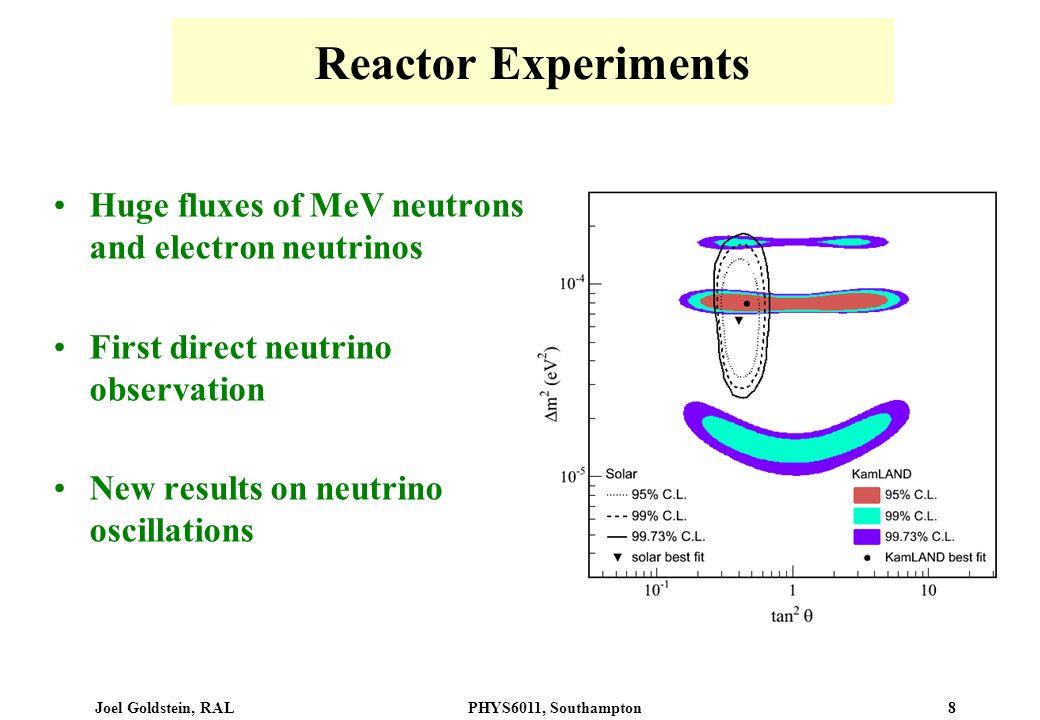 Reactor Experiments Huge fluxes of MeV neutrons and electron neutrinos