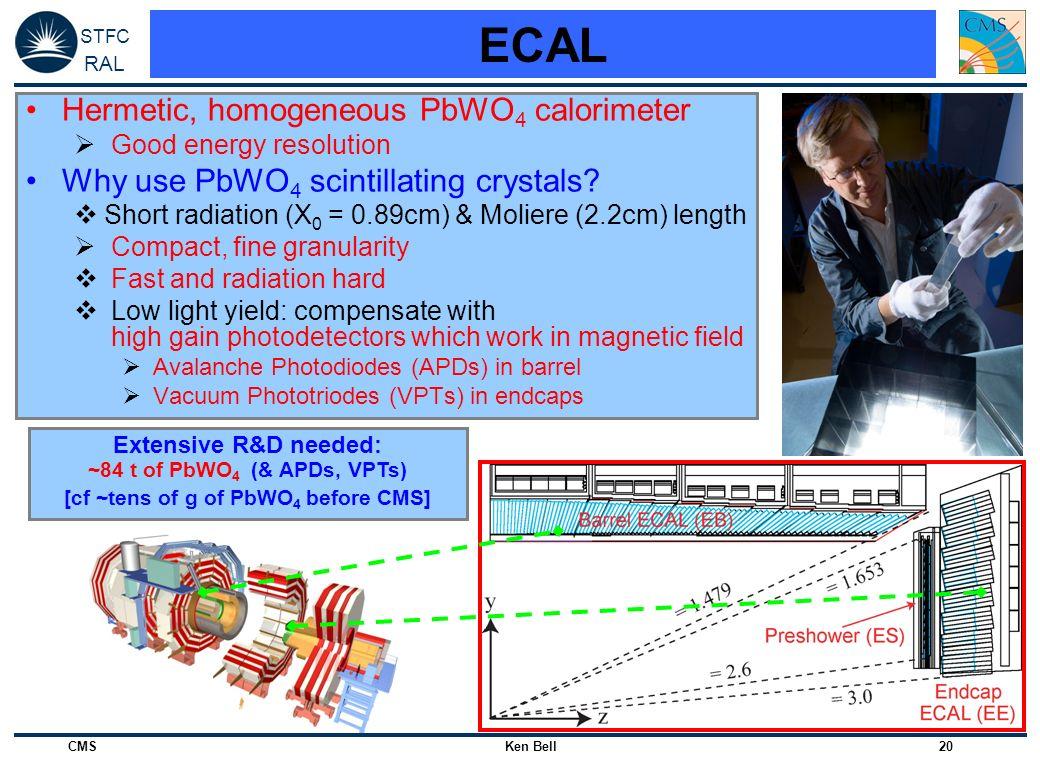 ECAL Hermetic, homogeneous PbWO4 calorimeter