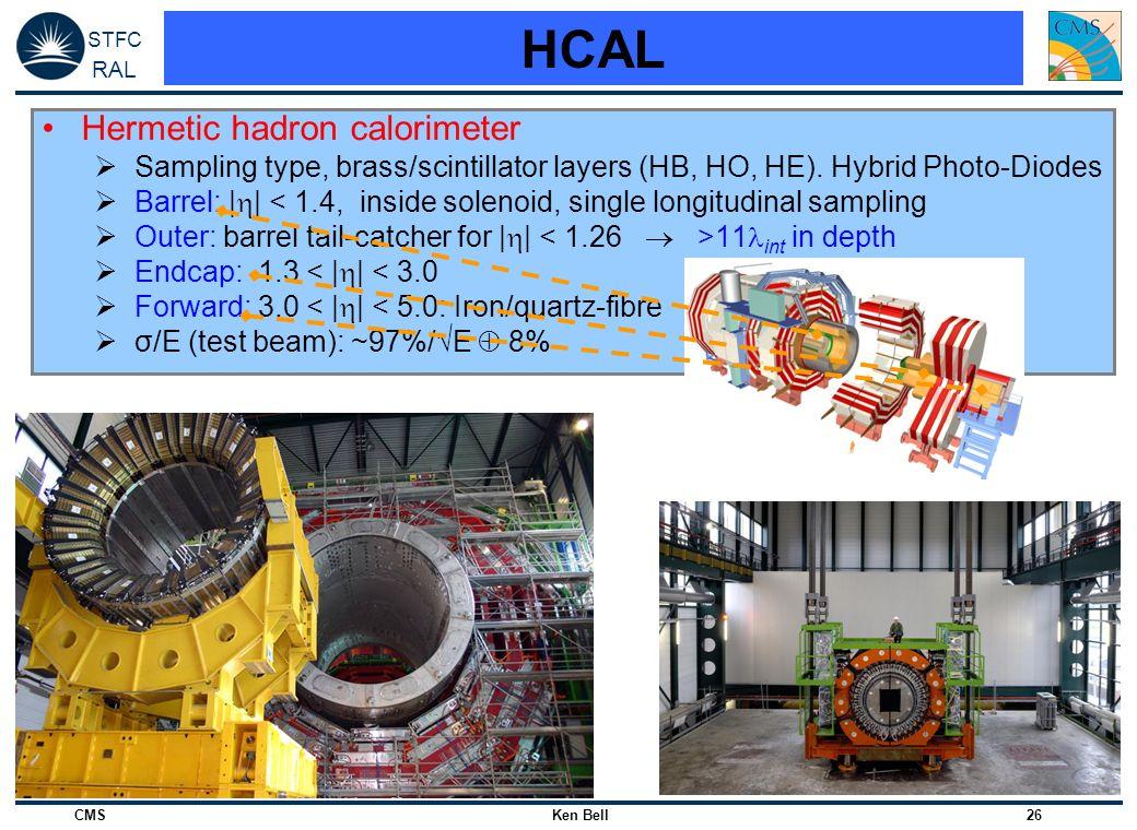 HCAL Hermetic hadron calorimeter