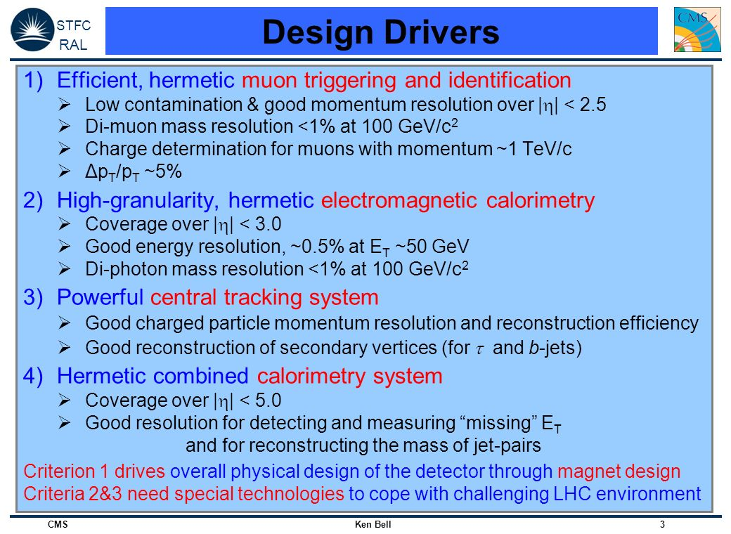Design Drivers Efficient, hermetic muon triggering and identification