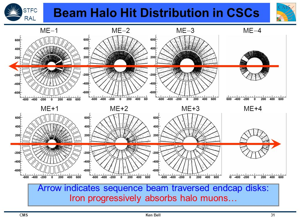 Beam Halo Hit Distribution in CSCs
