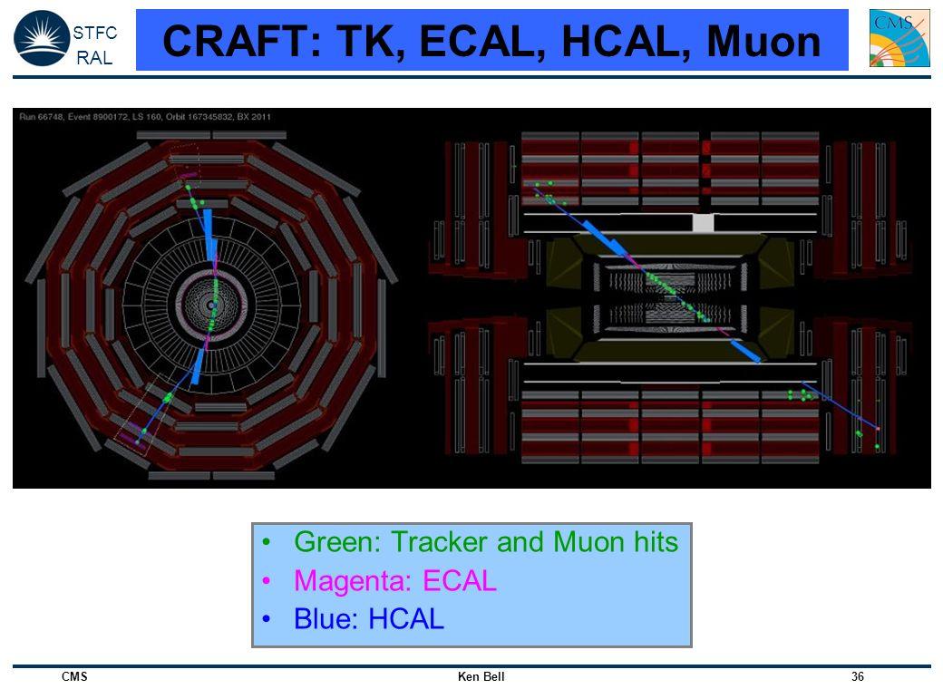 CRAFT: TK, ECAL, HCAL, Muon