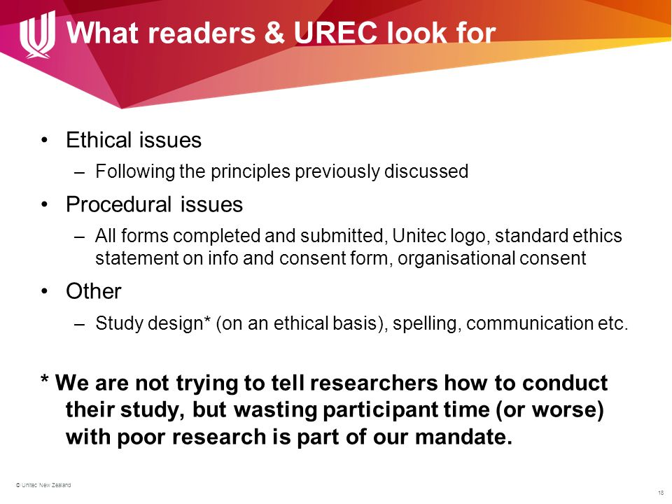 All Of The Following Are Principles Of Design Except : Ethical standards for conducting research at unitec ppt