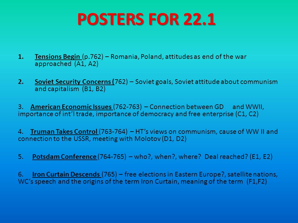 6 POSTERS ...