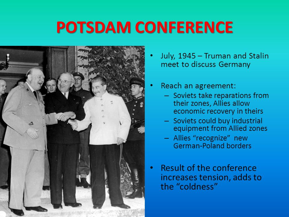 result of the yalta and potsdam A secondary school revision resource for gcse history about modern world history, international relations, the causes of the cold war and the yalta and potsdam conferences.