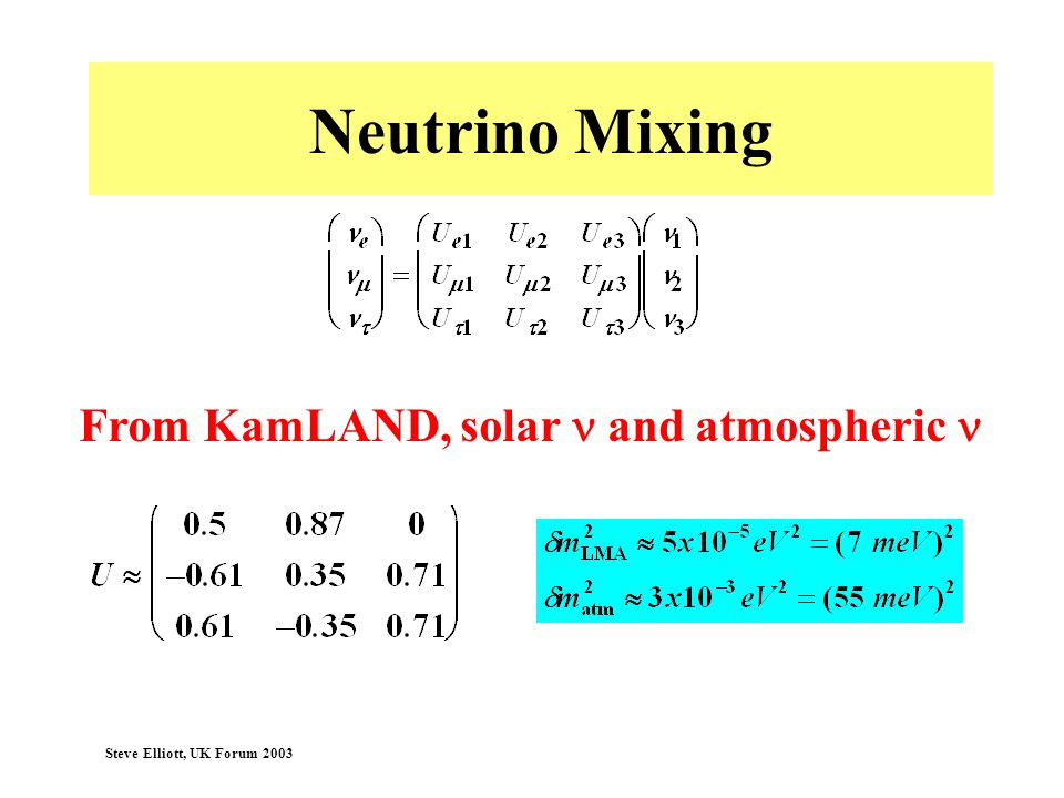 From KamLAND, solar n and atmospheric n