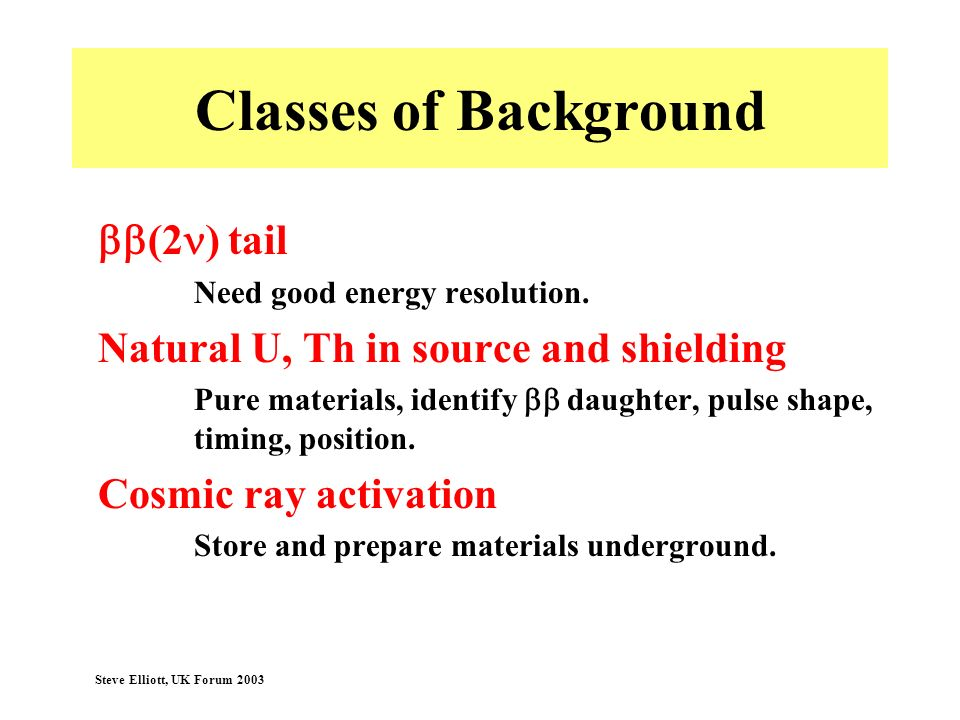 Classes of Background bb(2n) tail