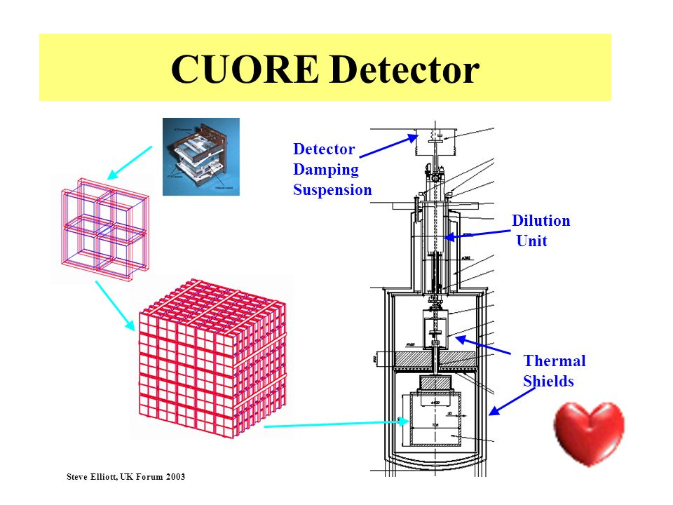 CUORE Detector Detector Damping Suspension Dilution Unit Thermal
