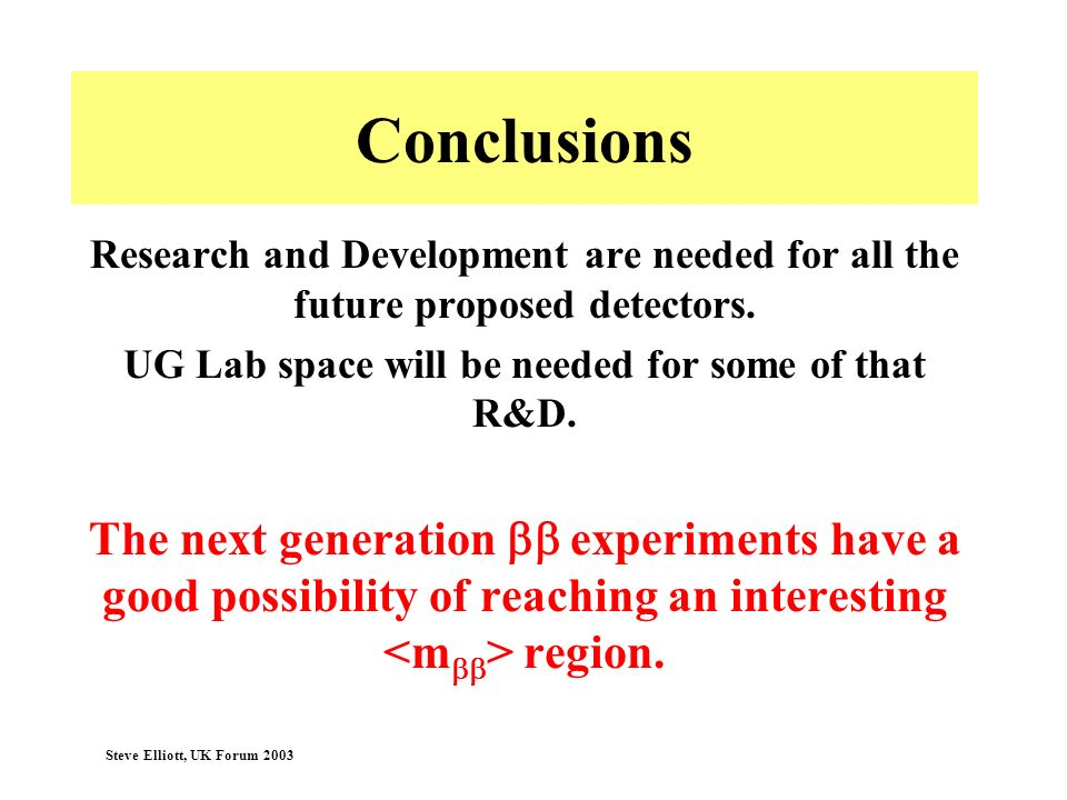 UG Lab space will be needed for some of that R&D.
