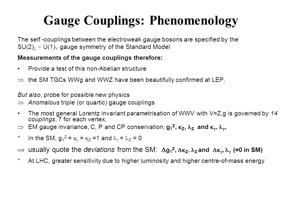 Gauge Couplings: Phenomenology