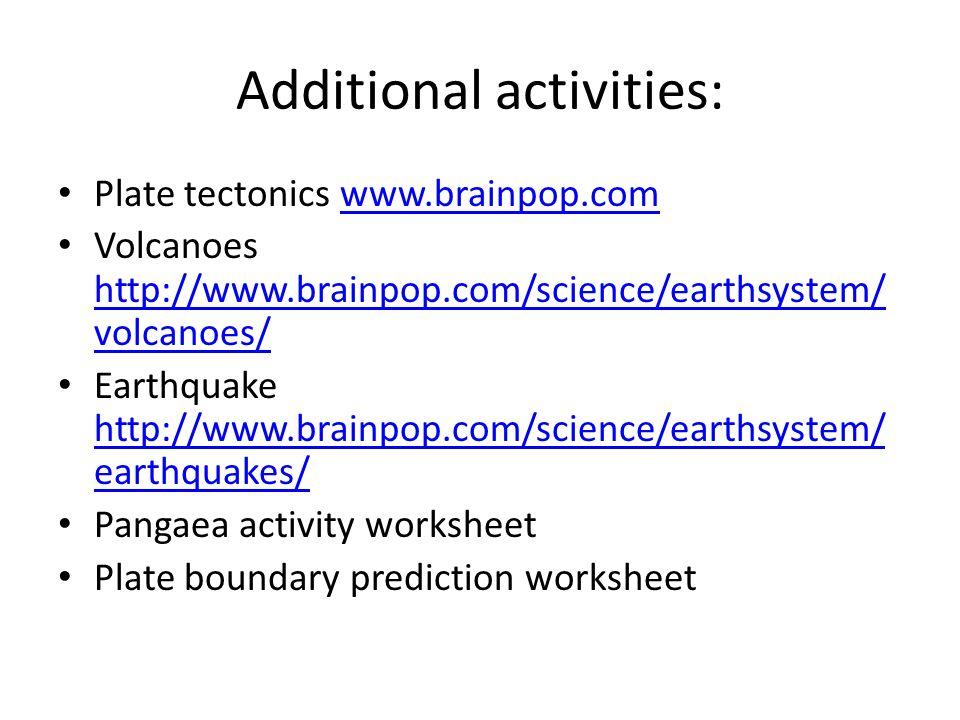 Plate tectonics ppt video online download – Pangaea Worksheet