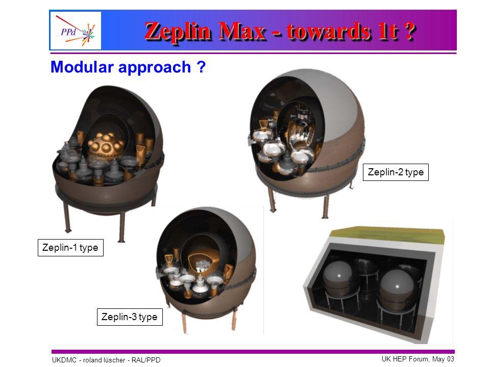Zeplin Max - towards 1t Modular approach Zeplin-2 type
